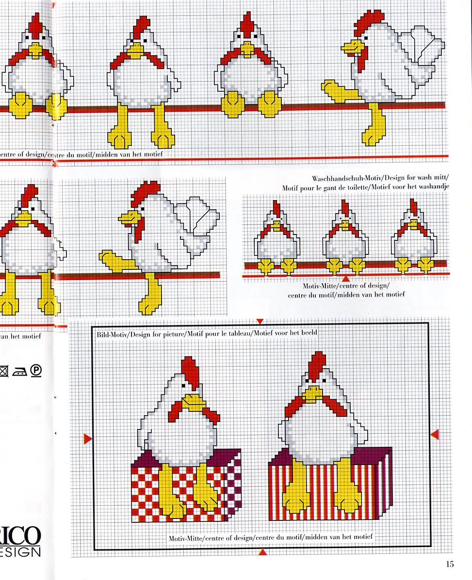 Вышивка с петушком. Схемы для детей и взрослых - Вышивание 87
