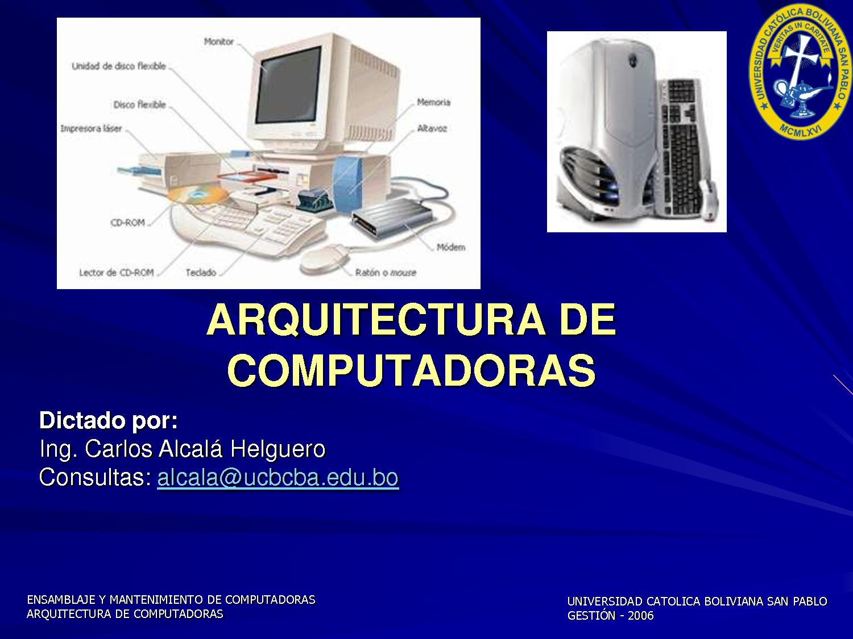 Informatica arquitectura de computadoras for Arquitectura de computadores