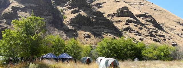 Steelhead camp on the Deschutes River, OR