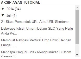 scroll di widget arsip blog
