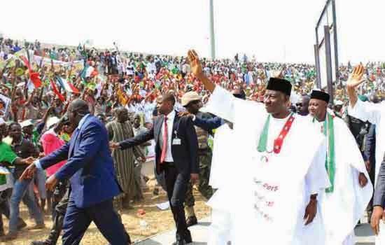 President Goodluck Ebele Jonathan campaign rally
