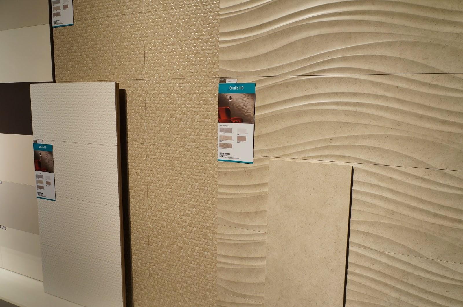 linha Studio HD - porcelanato Favo e Studio Limestone - lançamentos 2015 da Cerâmica Portinari