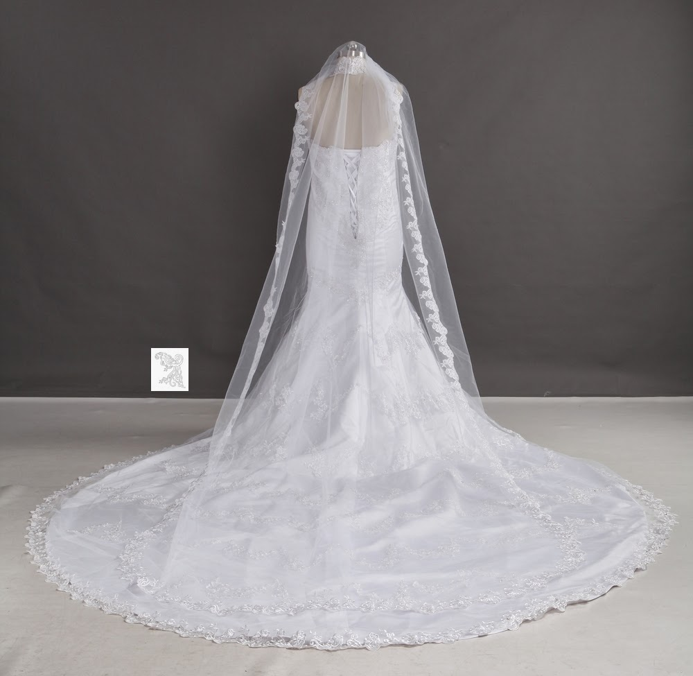 Martinique Fashion Long Train Wedding Dresses With Lace