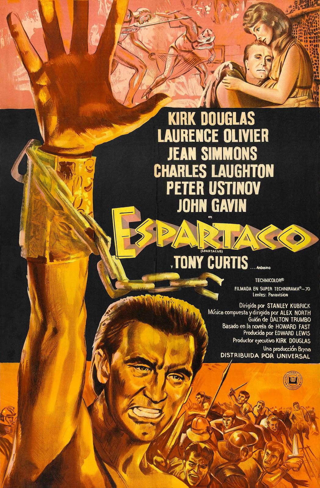 Filme Spartacus throughout o rato cinéfilo: spartacus (1960)