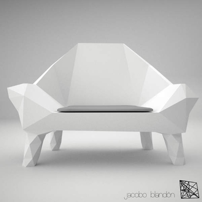 unique sofa and armchair