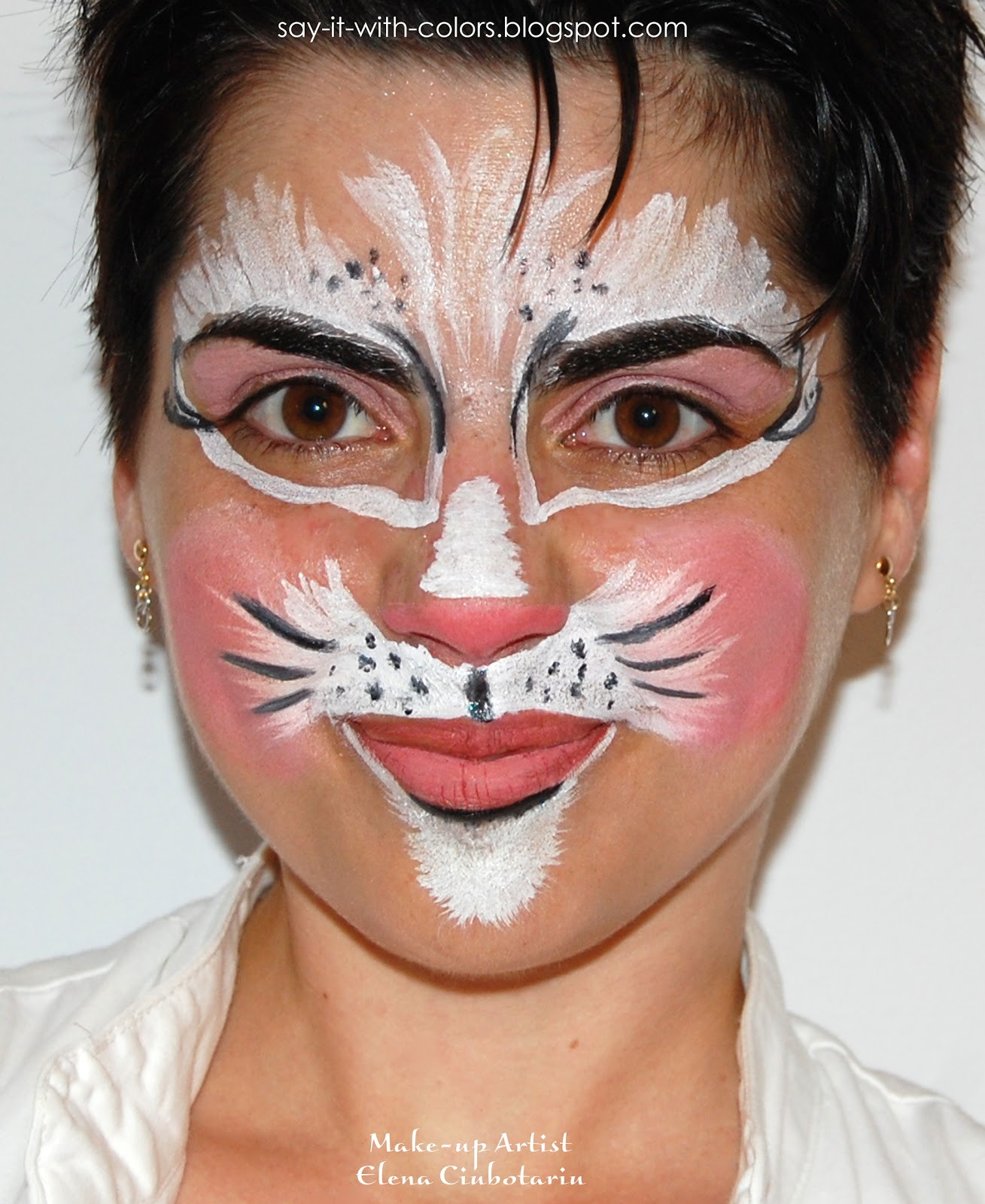 Sexy Cat Face Paint http://say-it-with-colors.blogspot.com/2012_06_01_archive.html