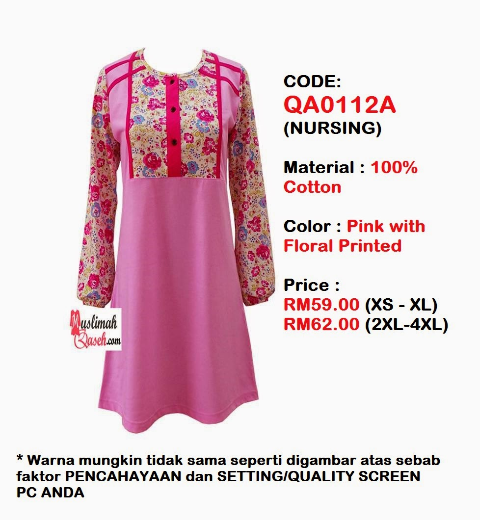 T-Shirt-Muslimah-Qaseh-QA0112A