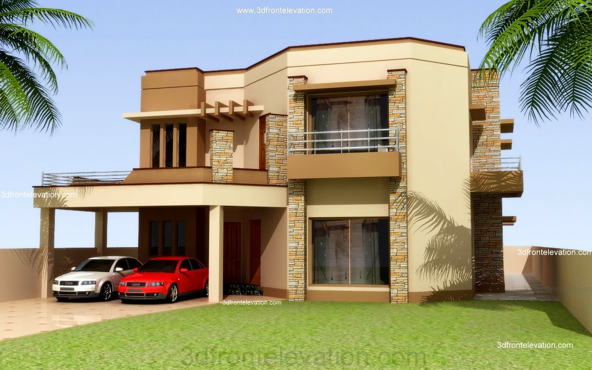 3d front pakistan front elevation of house - Beautiful front designs of homes ...