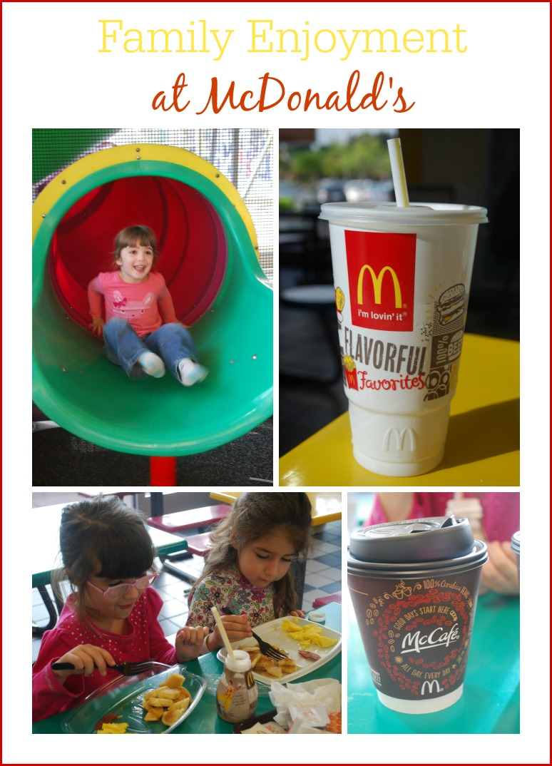 Family Enjoyment at McDonald's - How to enjoy a simple meal out with the kids. #sponsored