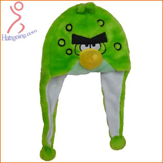 Green Space Angry Birds Hats