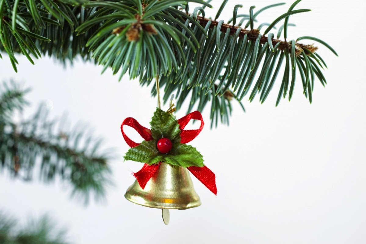 Christmas Tree Decorated With Ribbon