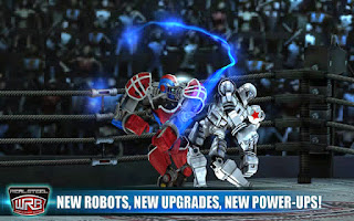 Screenshots of the Real Steel World Robot Boxing for Android tablet, phone.
