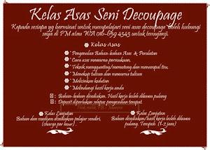 KELAS ASAS DECOUPAGE