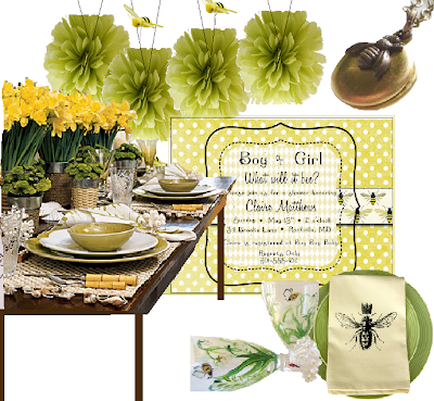 Afternoon Bee Baby Shower Theme