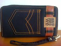 dompet wanita jeans hitam