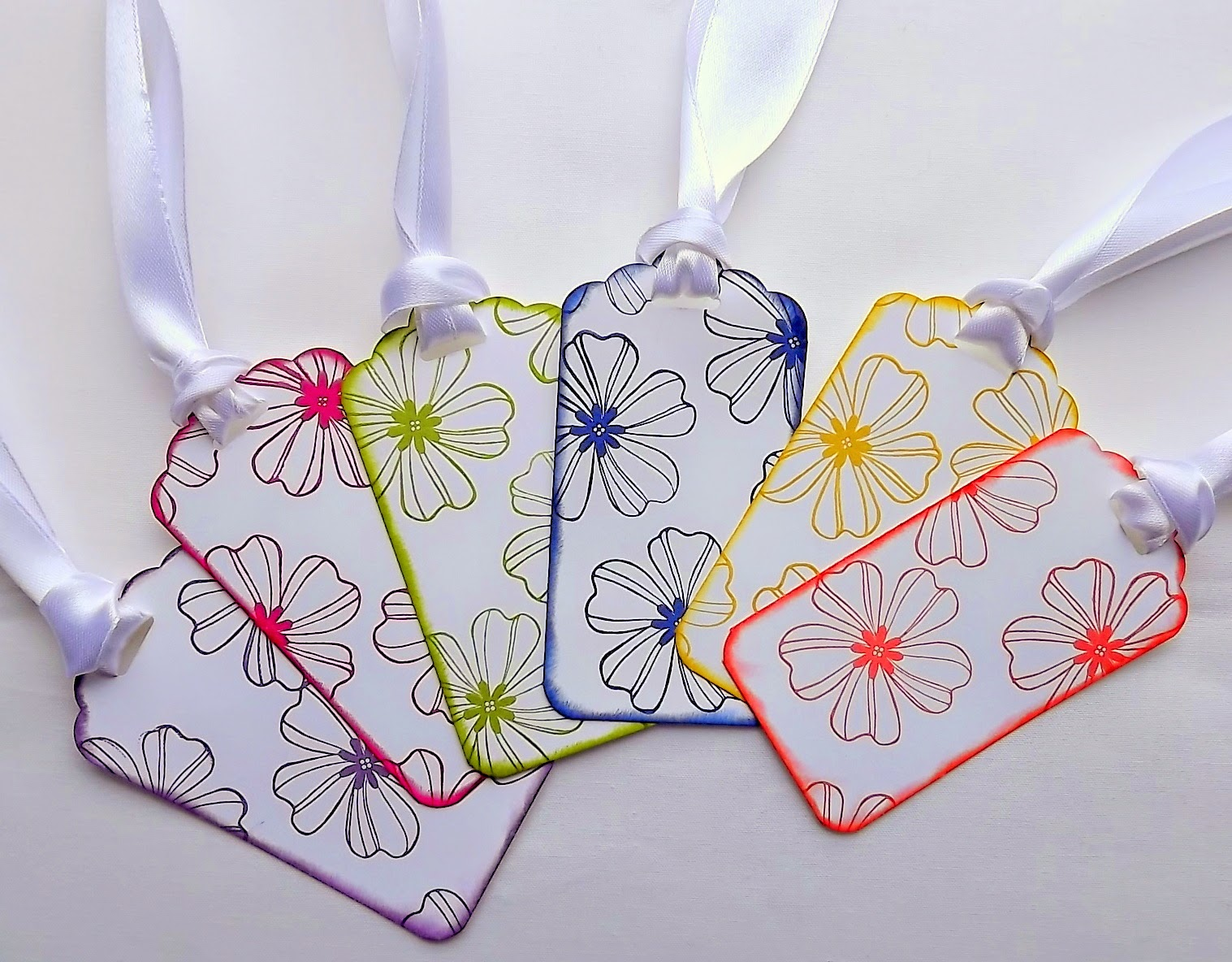 Stampin Up! gift tags scalloped tag topper and flower shop