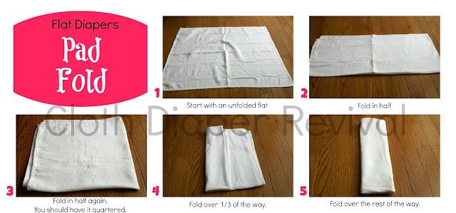 Flat Diaper Pad Fold