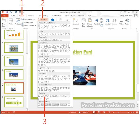Cara Membuat Shape Dan Kotak Teks Text Box Di Powerpoint 2013