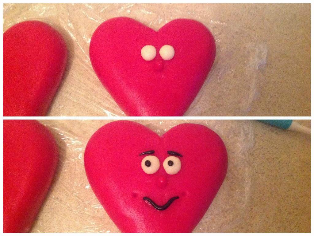 Торт сердце2 з мастики пошагово