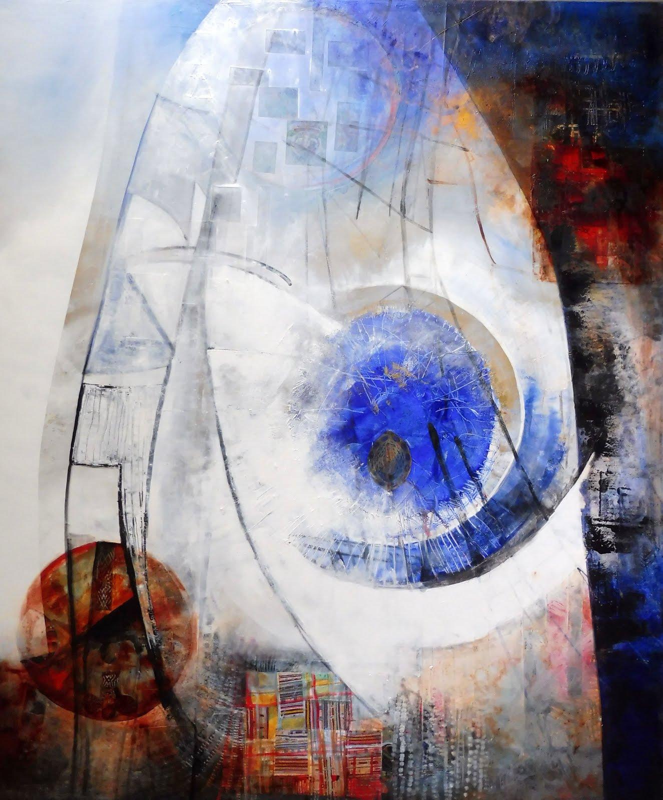 Blue eye - 100 x 120 cm - 2017