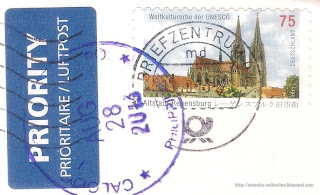 Old Town of Regensburg stamp; 2011