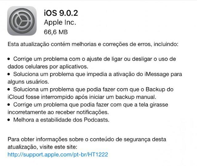 iOS 9.0.2 chega de surpresa para os usuários