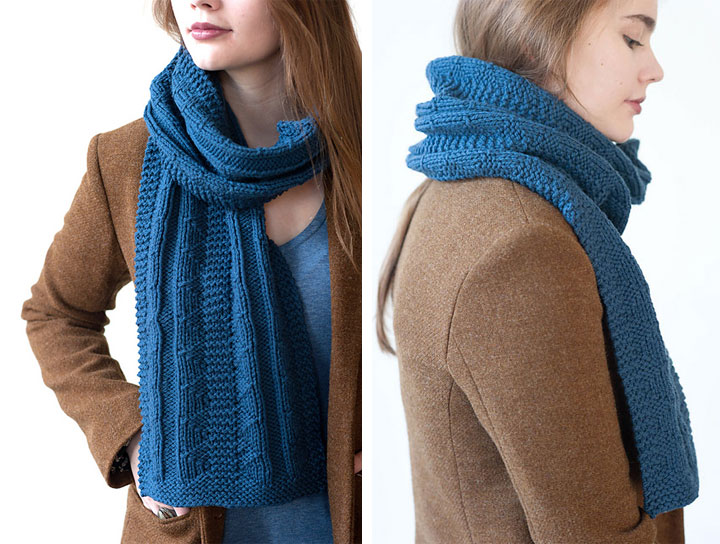 Keirnan by Shannon Cook // Scarves etc. 2014 for Quince & Co.