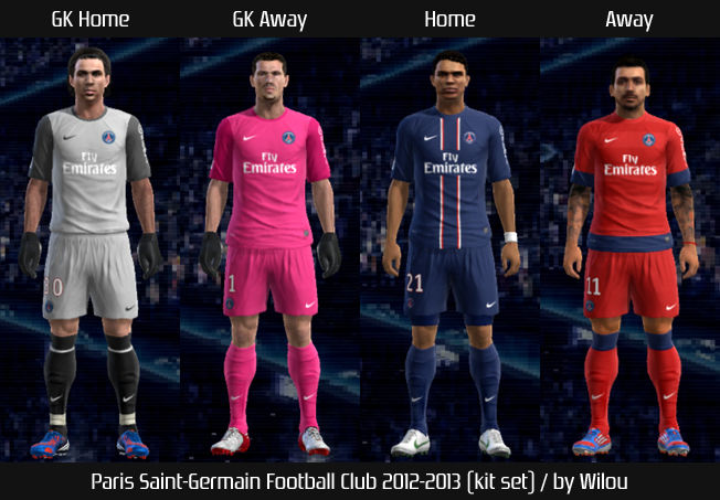 PES 2012 Paris 12 13 Kit Set by wilou