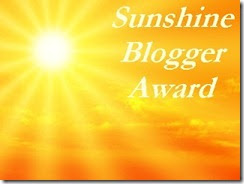 Sunshine Blogger Award. image
