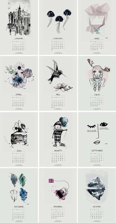 El calendario más bonito de 2016 (para imprimir gratis)