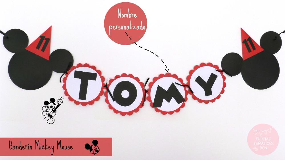 Banderín Mickey mouse personalizado