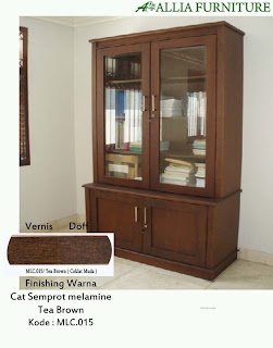 Contoh Furniture Semprot Melamine Tea Brown