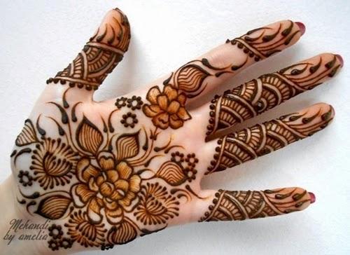 Amelia New Mehndi Designs 2014-15