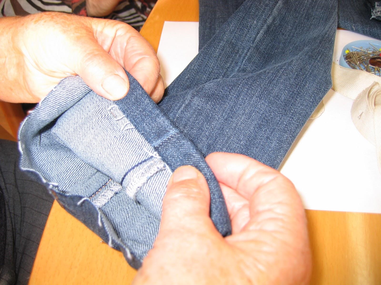 la ventana dorada: Cómo coger el bajo a un pantalón vaquero