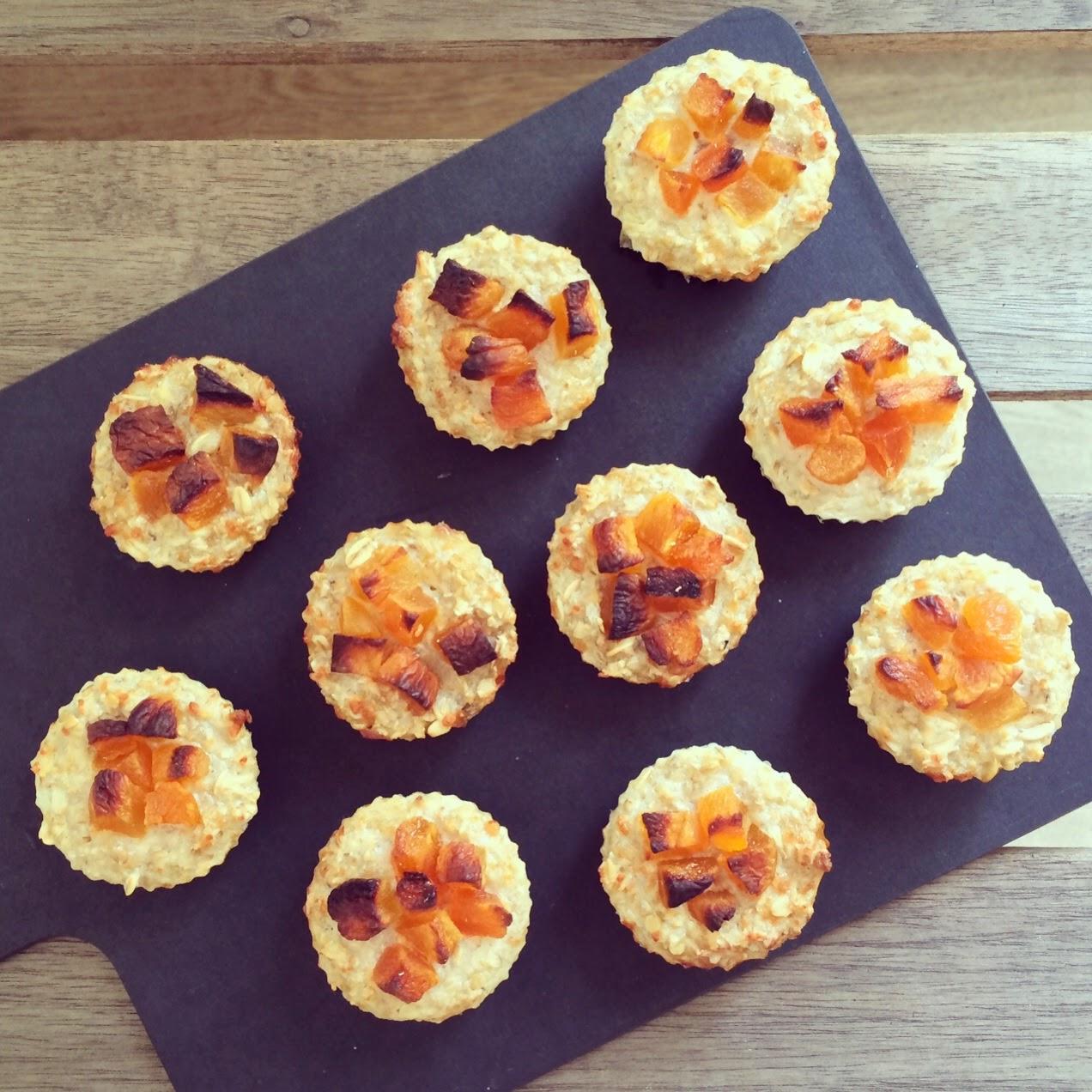 muffins abricots parmesan flocons d'avoine
