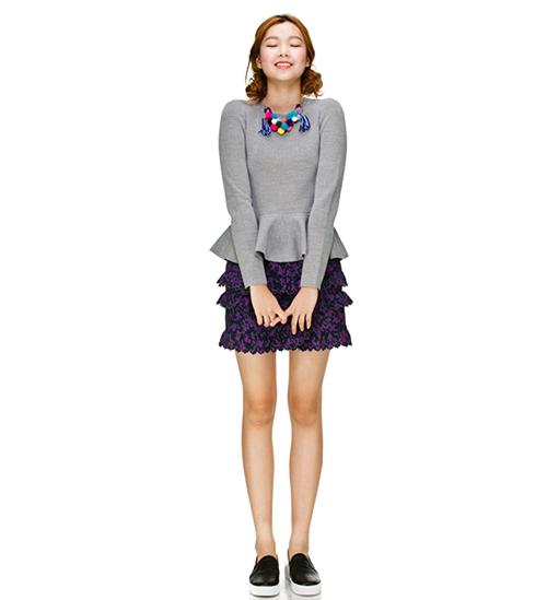Lucky Chouette Peplum Knit Sweater