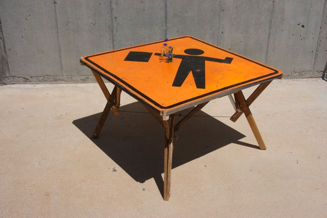 Add Authenticity With a Road Sign Table