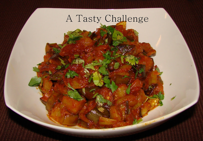Brinjal/ Eggplant with Ketchup and Tamarind