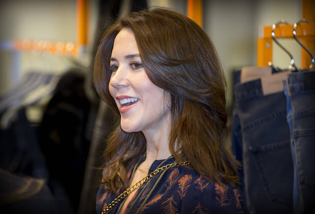 Crown Princess Mary of Denmark visits the design student collections Designers Nest