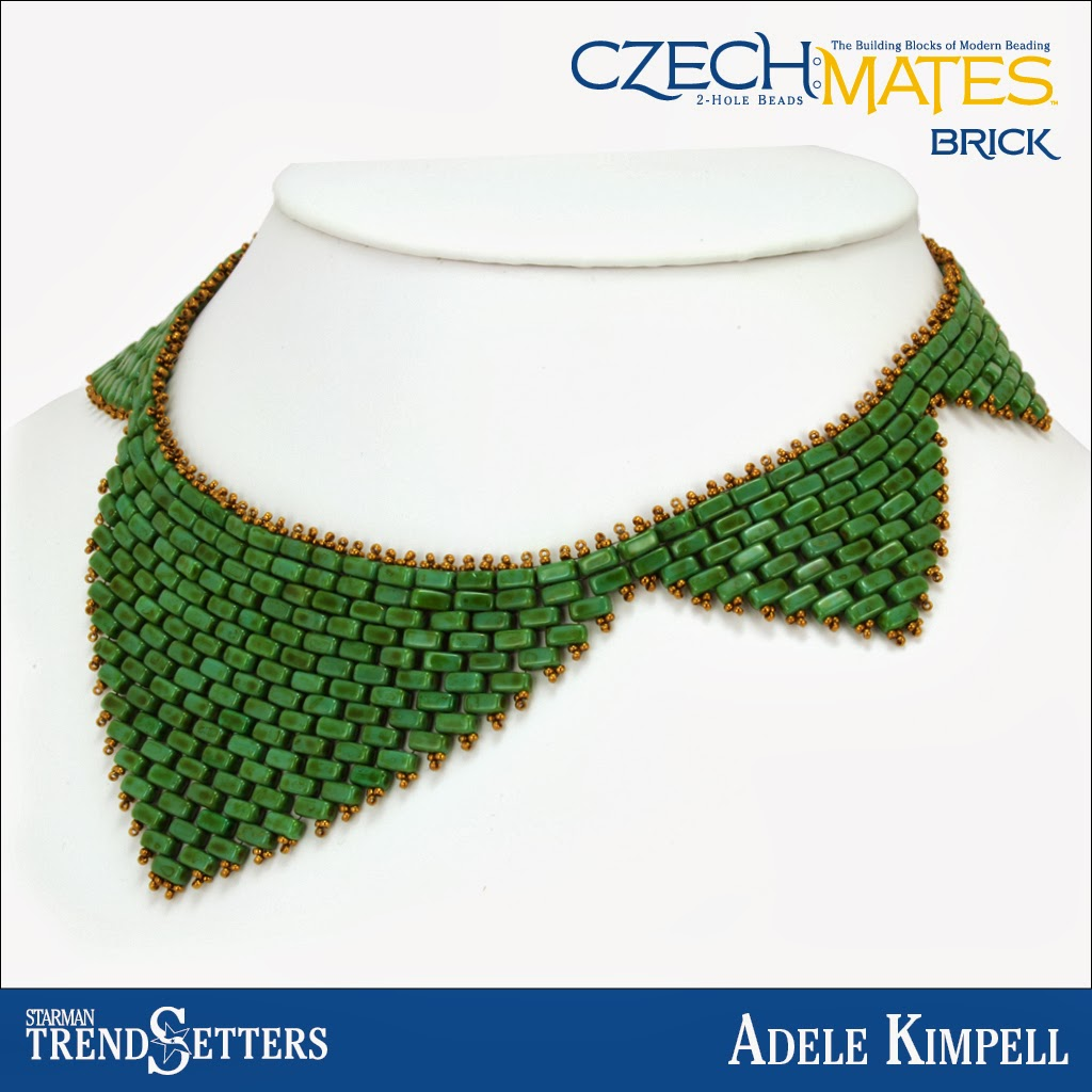CzechMates Brick (Jade) Necklace by Starman TrendSetter Adele Kimpell