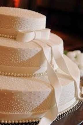 bolo para bodas de pérola