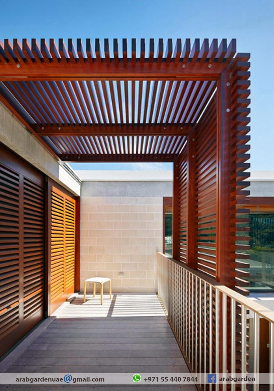 Balcony Shade Design: Wooden Pergola Contractor