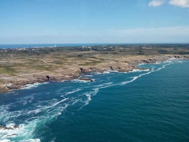 hélicoptère, Ile d'yeu, Vendée, côte sauvage, paysage, bullelodie