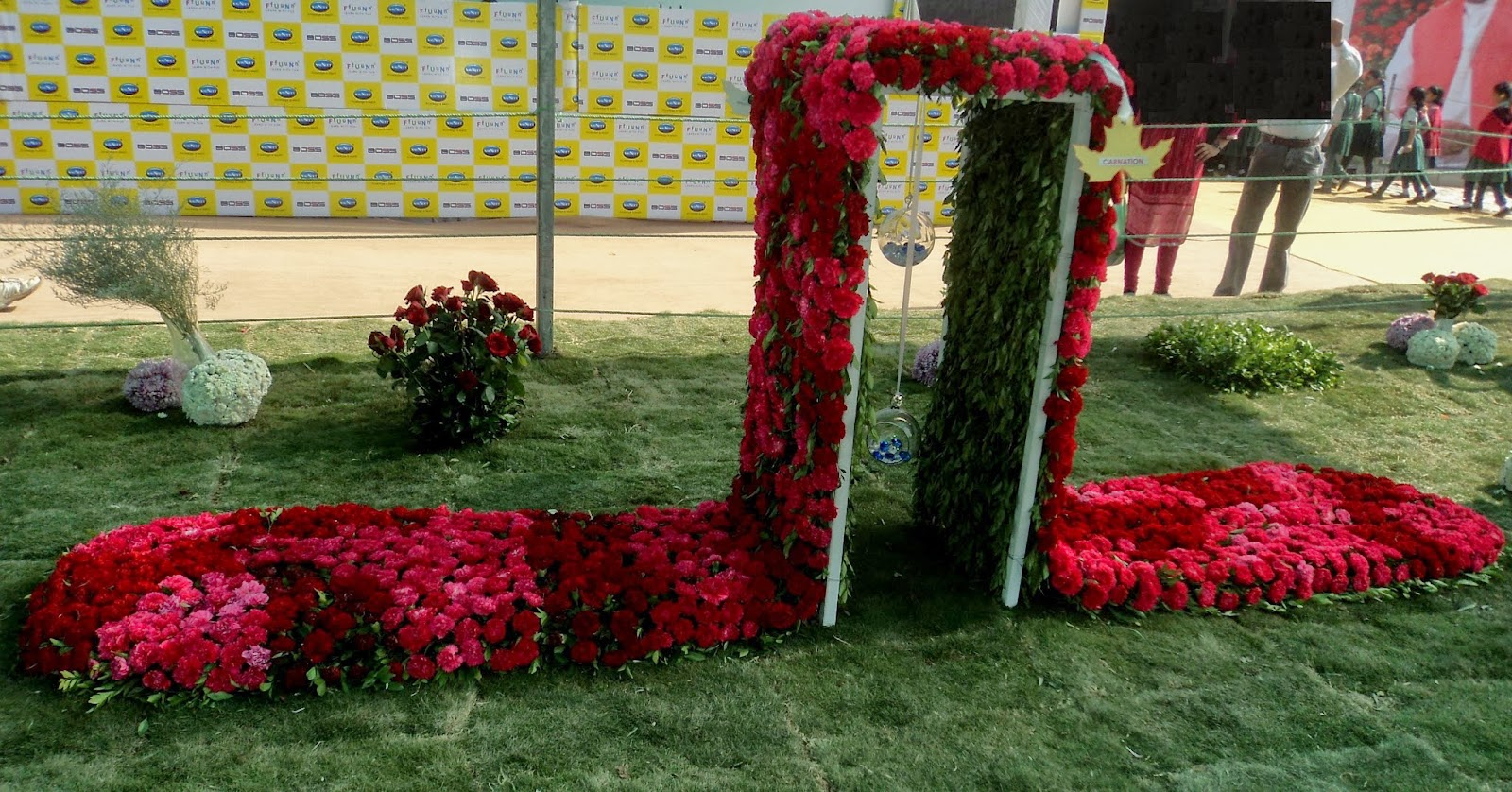 carnation flower sculpture