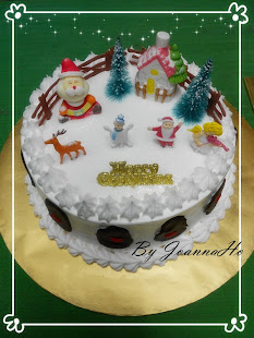 Xmas cocktrail chiffon cake
