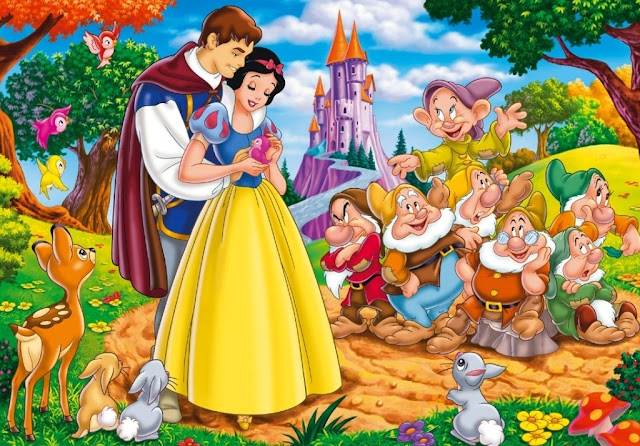 Walt Disney movie,snow white and the seven dwarfs, movie wallpaper