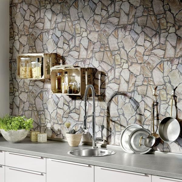 Papel pintado papel pintado wood 39 n stone maderas y piedras - Papel de pared para cocina ...
