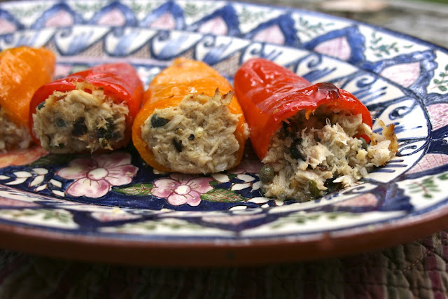 Tuna Stuffed Peppers: Simple Living and Eating