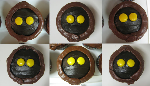 Star Wars Jawa Cupcakes - Individual Close-Up Views Collage