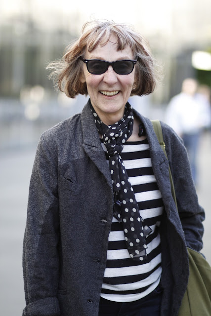 Lenore Waldron City Arts Magazine Seattle street style fashion it's my darlin' polka dot scarf